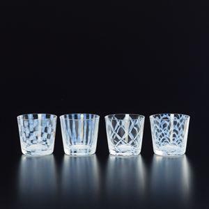 【セット】大正浪漫硝子 そばちょこ 4点セット/ガラス食器/廣田硝子