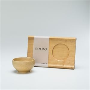 [Set] Enjoy soup set / Wooden bowl and Wooden bread board / S