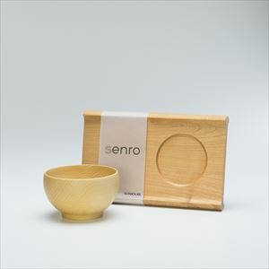 [Set] Enjoy soup set / Wooden bowl and Wooden bread board / M
