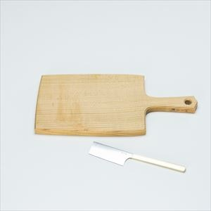 [Set] Wooden cheese board L & Cheese knife / Azmaya