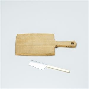 [Set] Wooden cheese board S & Cheese knife / Azmaya