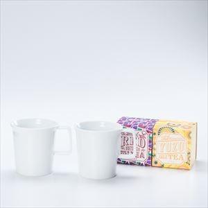 【セット】ミニマルな有田焼マグカップペアでいただく うれしの紅茶 RED & YUZU 化粧箱入_Image_1