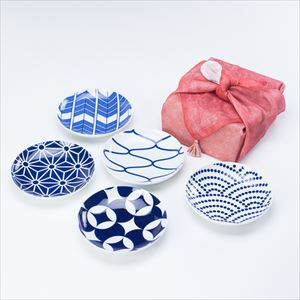 [Dish cloth wrapping] [Set of 5] KOMON Torizara / Kissho-mon / KIHARA
