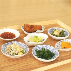 【セット】印判豆皿 4枚組モチーフ(化粧箱入) 青はんかち包/東屋_Image_2