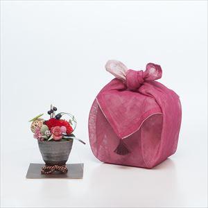プリザーブドフラワーアレンジ バラ 布巾包