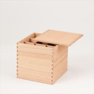 【仕切り付】白木(タモ)の三段重 6寸重箱 ナチュラル/松屋漆器店