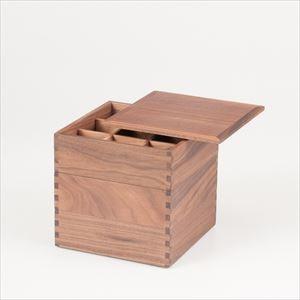 【仕切り付】ウォールナットの三段重 6寸重箱 ナチュラル/松屋漆器店