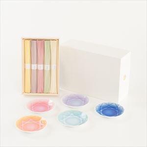色どり可愛いそうめんとArita Jewelの5色セット 化粧箱入