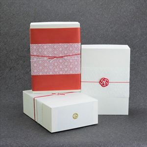 夏のおしゃれな五色そうめんとラウンドプレート2枚のセット 化粧箱入_Image_3