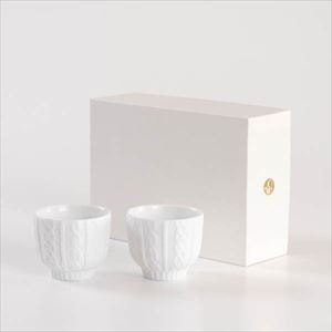 [Set] [Exclusive box] Pair teacups / Knit wear / White / Trace Face series / Cement Produce Design