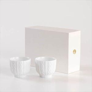 【セット】トレースフェース ニット ホワイト ペアカップ化粧箱入/ セメントプロデュースデザイン