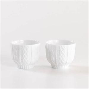 【セット】トレースフェース ニット ホワイト ペアカップ化粧箱入/ セメントプロデュースデザイン_Image_1