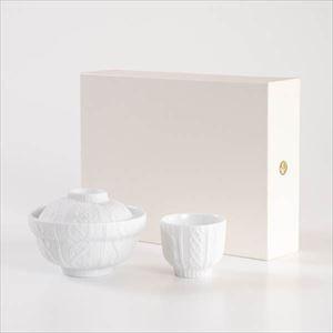 【セット】トレースフェース ドンブリ&カップ ニット化粧箱入/丼 カップ/ セメントプロデュースデザイン