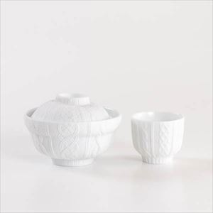 [Set] Donburi bowl & Teacup / Knit wear / Trace Face series / Cement Produce Design_Image_1