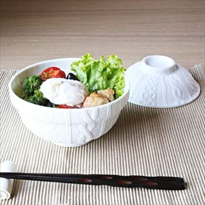 [Set] Donburi bowl & Teacup / Knit wear / Trace Face series / Cement Produce Design_Image_2