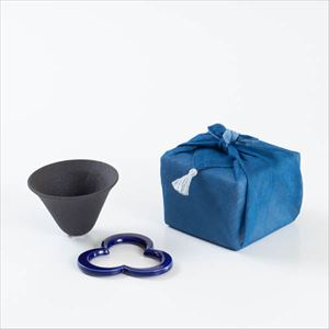 [Handkerchief wrapping] Caffe hat / Pour over cone / Navy / 224 porcelain