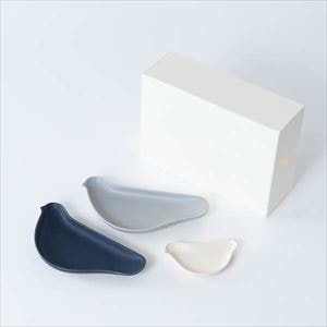 【セット】TORIZARA & KOTORIZARA モノトーン好きのための3羽セット 化粧箱入/ 取皿/ Floyd