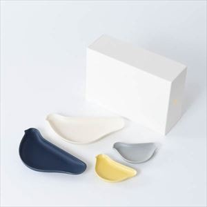 [Set of 4] [Exclusive box] TORIZARA & KOTORIZARA / Bird plate / Nordic colors set / Floyd