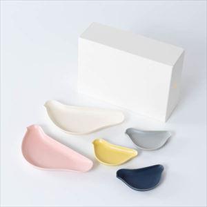 【セット】TORIZARA & KOTORIZARA 紅白とひよこの5羽セット 化粧箱入/ 取皿 豆皿/ Floyd