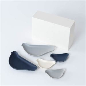 [Set of 5] [Exclusive box] TORIZARA & KOTORIZARA / Bird plate / For Monotone lovers set / Floyd