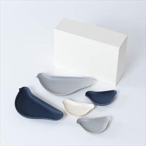【セット】TORIZARA & KOTORIZARA モノトーン好きのための5羽セット 化粧箱入/ 取皿 豆皿/ Floyd