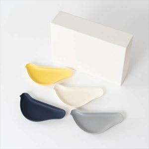 [Set of 4] [Exclusive box] TORIZARA / Bird plate / Nordic colors set / Floyd