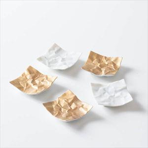 クリンクル 箸置き 5点セット 白金アソート/ 箸置き/ceramic japan