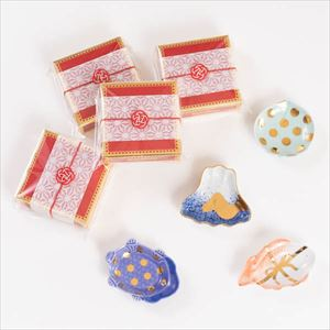 【お配りギフト】MAME アートピース 4点セット /梅水引ラッピング付/ 豆皿/amabro