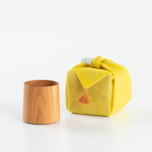 [Handkerchief wrapping] Wooden cup / SAKURA Cylinder / Plain / Gato Mikio Store