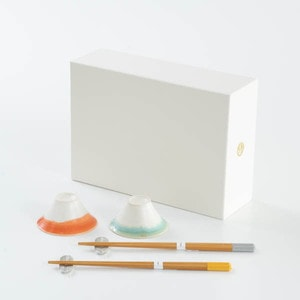 [Set] Auspicious set / FUJI CHOKO & Bamboo arrows 2 pairs / Sake cups and Chopsticks / Floyd