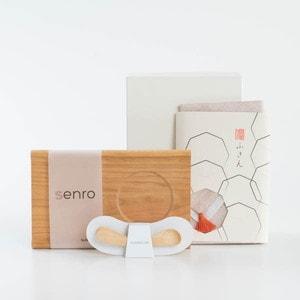 【セット】むくりスプーンのナチュラルカラー出産祝いセット 化粧箱入