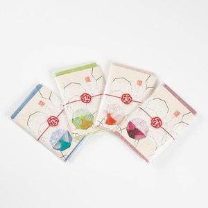 【お配りギフト】ふきん大 4色セット/梅水引ラッピング付/布巾/WDH