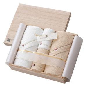 至福タオル バスタオル2枚・フェイスタオル2枚セット 木箱入/今治謹製