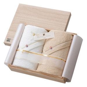 至福タオル バスタオル2枚セット 木箱入/今治謹製