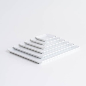 【セット】TYシリーズ Square Plate ホワイト 6枚セット 化粧箱入り/お皿/1616 arita japan_Image_1