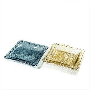 【セット】grid plate 23cm深皿 ペア タン&インディゴ/プレート/Sghrスガハラ