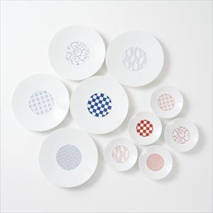 [Set of 10] [Exclusive box] Wa-Modern / 5 patterns / Chuzara & Kozara / Eiho porcelain