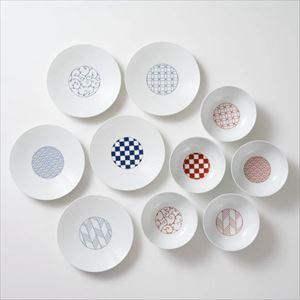 【セット】和モダン 縁起のよい小鉢5点&取皿5点のセット 化粧箱入/永峰製磁