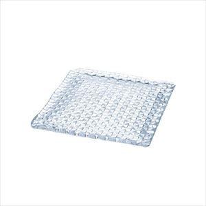 grid plate 24cm角皿 クリアー/プレート/Sghrスガハラ