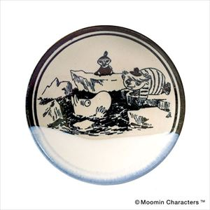 MOOMIN MASHIKO POTTERY-GLAZE- 糠白 Nukajiro/小皿/amabro