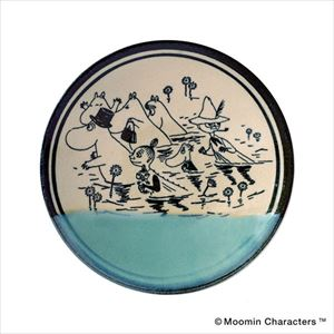 MOOMIN MASHIKO POTTERY-GLAZE- 青磁 Seiji/小皿/amabro