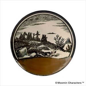 MOOMIN MASHIKO POTTERY-GLAZE- 柿釉 Kaki/小皿/amabro