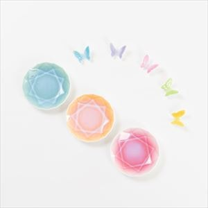 [Set] [Exclusive box] Butterfly chopstick rests 5 colors & Arita Jewel Round 3pc / Floyd