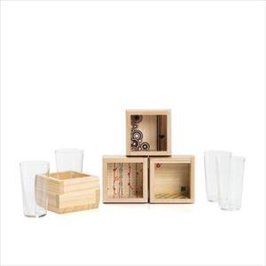 【セット】福ますます 4種 グラスセット/枡・酒器/増田桐箱店