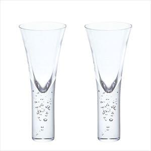 【セット】神秘的に立ち昇る泡 シャンパン・カクテル クリアー ペア/グラス/Sghrスガハラ