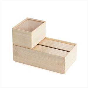 【セット】ティッシュケースと小物入れのおしゃれ収納セット/増田桐箱店