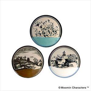 [Set of 3] Moomin MASHIKO POTTERY -GLAZE- / Plate / amabro