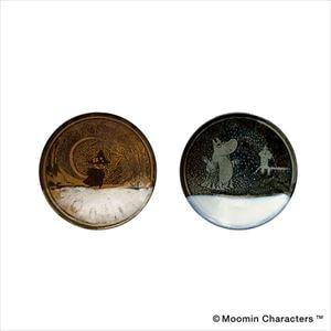 【セット】MOOMIN MASHIKO POTTERY-GLAZE- ムーミンとスナフキン ペアセット/小皿/amabro