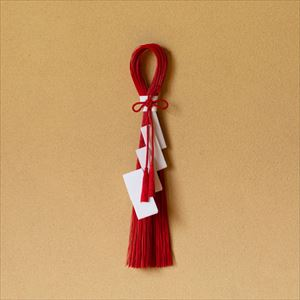 【2019年11月ごろ再販予定】紅白 清らかな紙垂 飾り板付/水引モダンお正月飾り