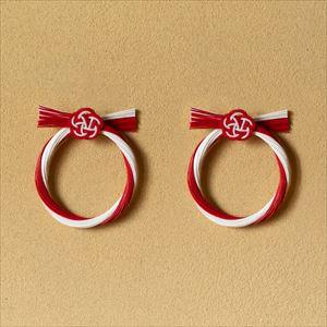 【2019年11月ごろ再販予定】紅白 梅結び2点セット 飾り板付/水引モダンお正月飾り